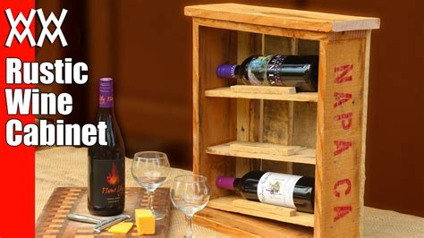 Rustic Wine Cabinet Plans