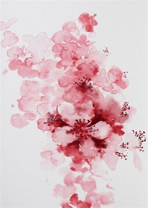 watercolor cherry blossom tattoo cherry blossom watercolor up ideas