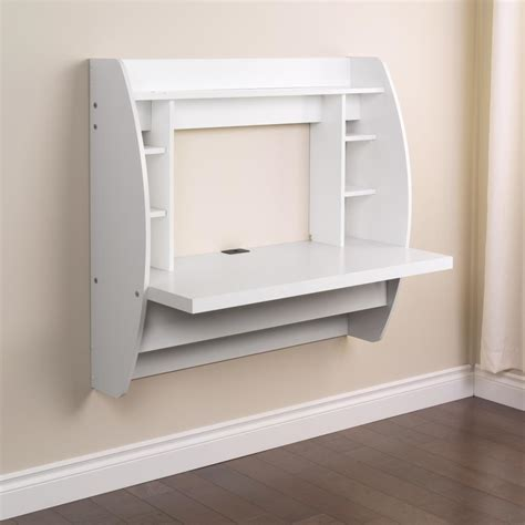 White Floating Desk With Storage Prepac Wehw 0200 1 White Storage Desk