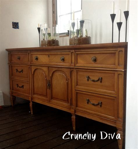 dining room sideboard thrift shopping medium wood