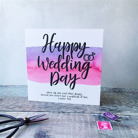 Happy Wedding Bible Verses by Happy Wedding Day Bible Verse Card By Izzy Pop