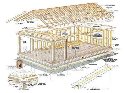 shed roof cabin  loft  cabin  loft plans
