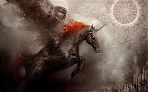 black unicorn hd wallpaper hd black unicorn wallpaper download free 85366