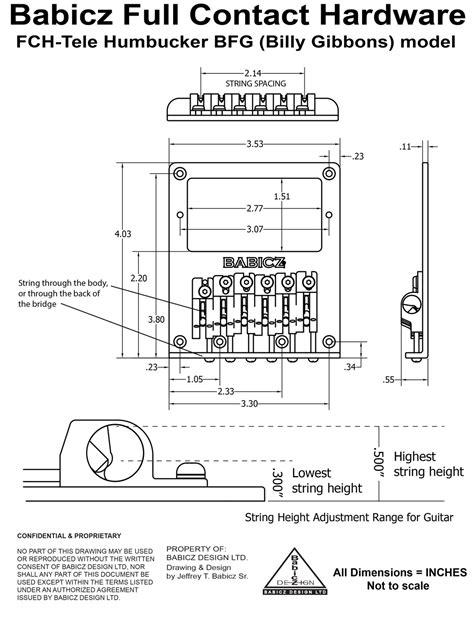 Pit Bull Guitars Gold Bridge For G Type Kits Humbucker Template Pdf