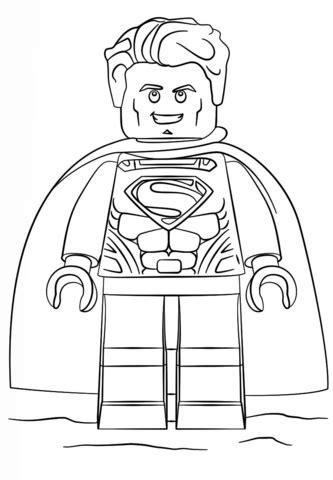Ausmalbild Lego Superman  Ausmalbilder Kostenlos Zum Ausdrucken sketch template