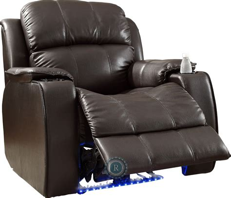 recliner with cooler jimmy brown power reclining chair with massage led cup