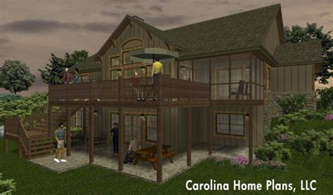 Home Plans For Sloped Lots by One Story House Plan For Sloped Lot With Walk Out Basement