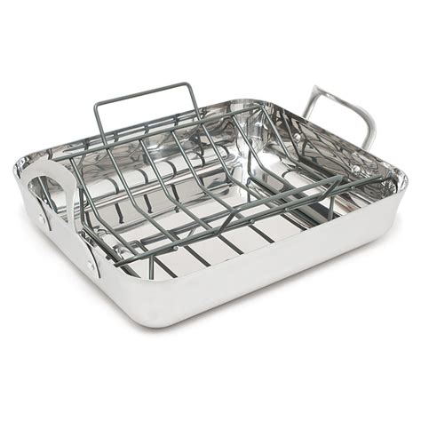 Calphalon Roasting Pan With Rack by Roasting Pans Reviews Best Of Cook S Illustrated