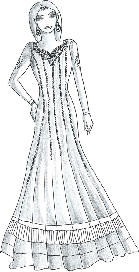 design dress cutting and stitching anarkali sketch www pixshark com images galleries with