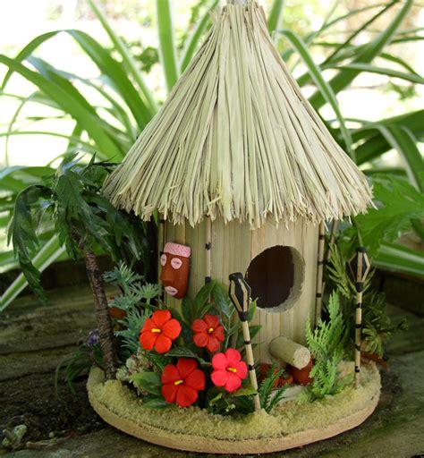 Miniature Tiki Hut Evartdesign Miniature Ooak Birdhouses
