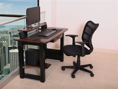 dark walnut computer desk loft desk black walnut caretta workspace