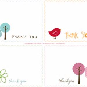 Printable thank you notes june lily web design and illustration