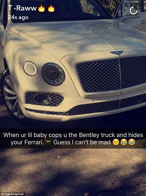 tyga bentley truck kylie jenner repossessed tyga s ferrari in elaborate