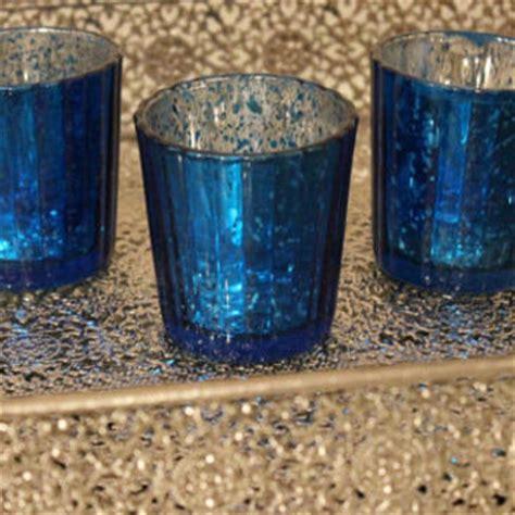 cobalt blue tea light candle holders set of 10 mercury glass blue cobalt navy from embellish1122 on