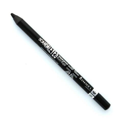 Rimmel Scandaleyes Waterproof Kohl Liner Sparkling Black rimmel scandaleyes waterproof kohl 001 black pencil eyeliner ebay
