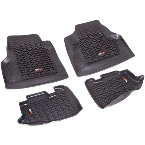 rugged ridge jeep floor mats rugged ridge floor mats front new black jeep wrangler 1997 2006 12987 10 ebay