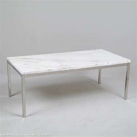florence knoll rectangular coffee table reproduction