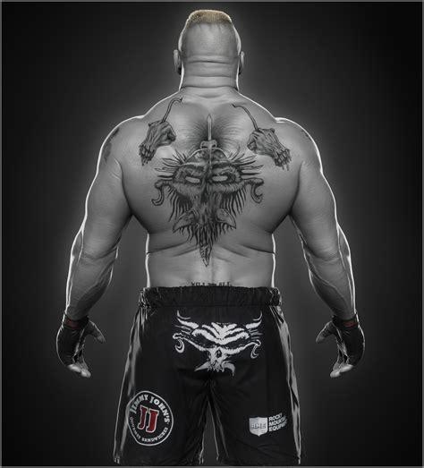 back tattoo brock lesnar artstation brock lesnar done for wwe hossein diba