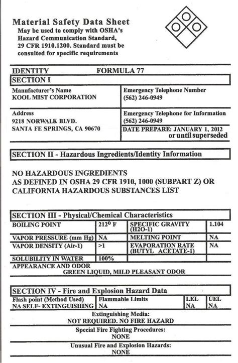 Free Printable Msds Sheets Health Symptoms And Cure Com Safety Data Sheet Template 2017