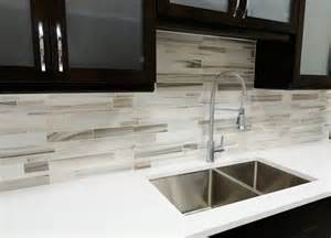 modern kitchen black and white the contrast softened brown travertine mix backsplash tile from