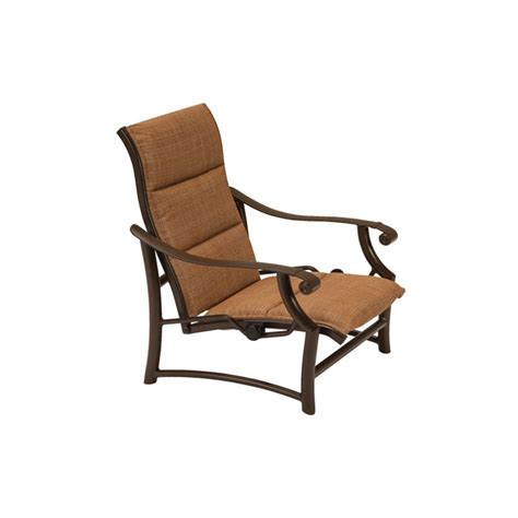 sling couch tropitone 710113saps montreux padded sling spa chair