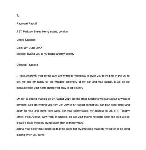 invitation letters visa ms word