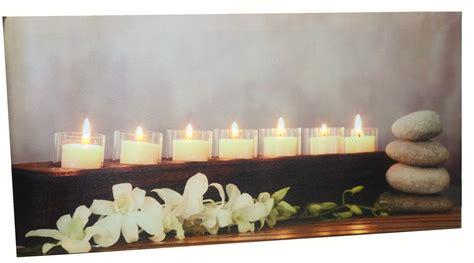 led beleuchtung wandbild gro 223 es bild mit 7 led beleuchteten kerzen 60 x 30 cm feng
