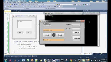 video tutorial visual studio serial com tutorial part 4 visual studio c
