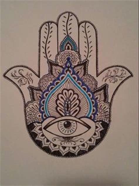 hamsa hand design by andywillmore pinteres tatuaje temporal de mano de hamsa mano de por