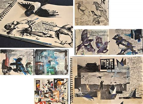 themes my higher art design unit 24 creative sketchbook exles to inspire art students