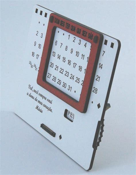 Calendario Permanente Calend 225 Permanente Personalizado De Madeira Mdf Branco