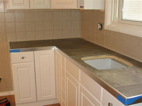 Tile Countertops Ceramic Tile Countertop Installation Tiled Kitchen Countertops