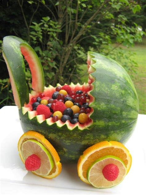 Baby Shower Watermelon Basket by The Happy Kitchen Watermelon Baby Buggy