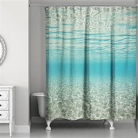 shower curtains ocean theme buy designs direct under the ocean shower curtain in blue