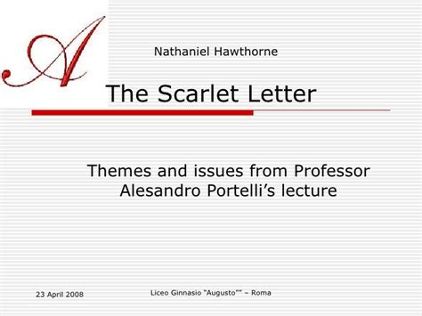 scarlet letter themes and explanations the scarlet letter