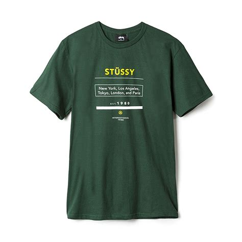 T Shirt Stussy 90 stussy 1980 tour pine hlstore highlights