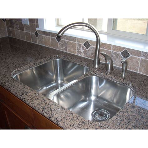 31 Inch Stainless Steel Undermount 60 40 Double Bowl Pictures Of Undermount Kitchen Sinks
