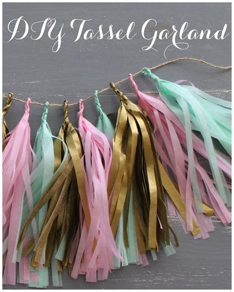 Diy Winter Wonderland Wedding Decorations - diy party decor how to make a tassel garland sweet city candy blog