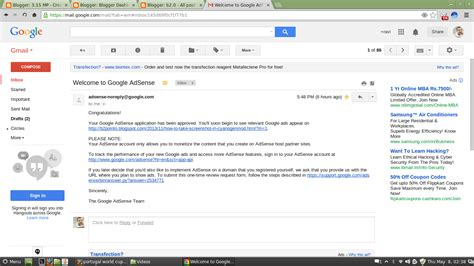 adsense mail how to get approved for adsense in india