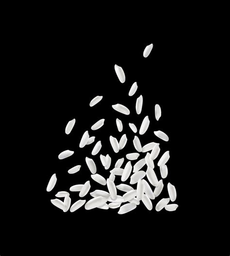 Rice Outline by White Rice Design Vector Free Vector Graphic