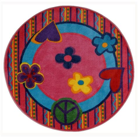 peace area rug la rug time shape peace out 4 ft 3 in area rug fts 180 51rd the home depot