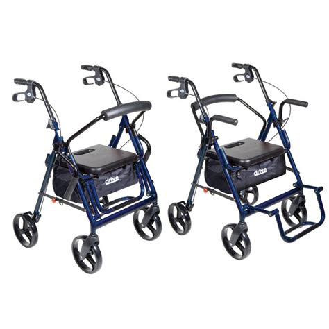rollator with seat second drive duet transport chair and rollator drive