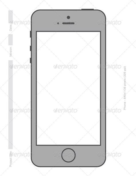 Simple Phone Printable Vector Templates By Digitalyardsale Graphicriver Custom Phone Template