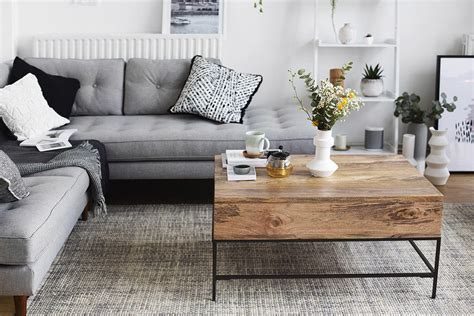 Inspiring Living Rooms - stylish monochrome and grey living room inspiration with