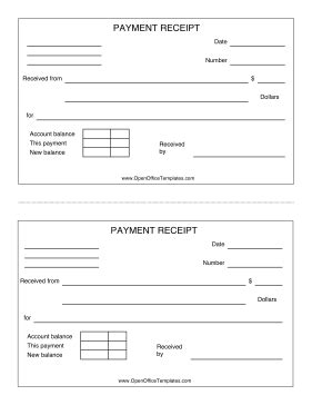 Open Office Receipt Template by Payment Receipt Openoffice Template