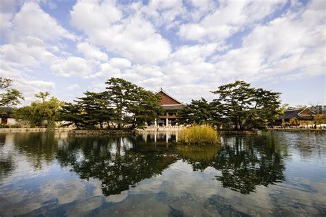 Landscape Photography Korea Free Stock Photo Of Palace And Lake Landscape In Seoul