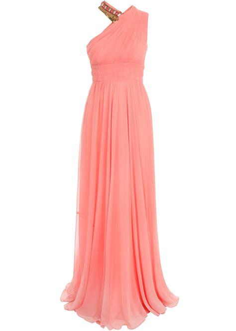 Matthew Williamson Lotus Chiffon Dress by Matthew Williamson Crinkle Chiffon Asymmetric Column Dress