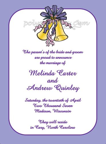 Wedding Bell Name by Wedding Bell The Knot Card Details