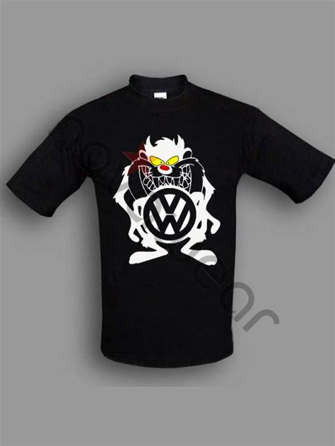 Tshirt Vw Black 2 vw taz t shirt black vw accessories volkswagen clothing