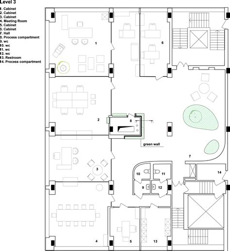 company floor plan gallery of office of technology company tseh